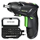 GALAX PRO Cordless Screwdriver, 3.6V Electric Screwdriver, 2000mAh Li-ion Battery with Battery Indicator with 4N.m Max. Torque and 31PCS Free Accessories for Home DIY
