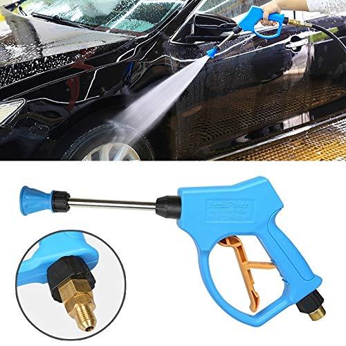 Waterpistool auto druk Washer hoge druk hoorn vorm mondstuk helder waterpistool voor self-service auto wasmachine (buitendraad: 18 X 1.5)