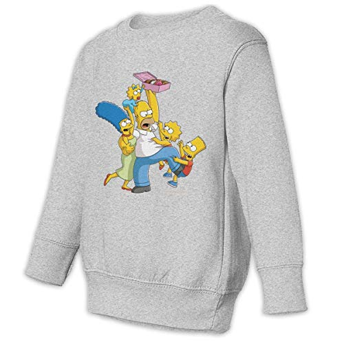 Hengtaichang Unisex Crew Neck Simp-Son Cute Long Sleeves Suit for Home