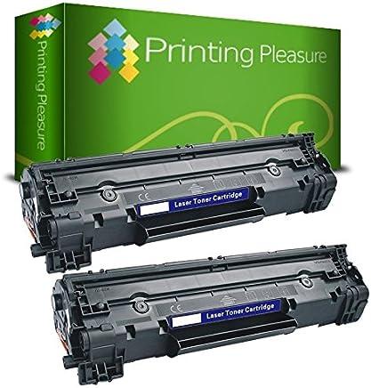 Printing Pleasure 2pz x CF283A 83A Toner Compatibile Nero per HP Laserjet Pro M201dw M201n M202dw M202n MFP M125a M125nw M125rnw M126a M126nw M127fn M127fw M128fn M128fp M128fw M225dn M225dw