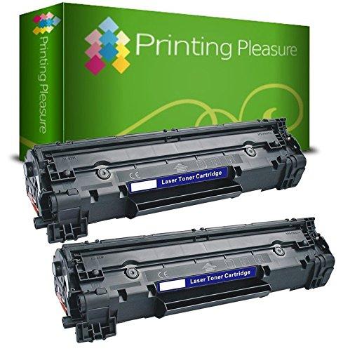 Printing Pleasure Pack 2 Unidades CF283A 83A Tóner Compatible con HP Laserjet Pro M201dw M201n M202dw M202n MFP M125a M125nw M125rnw M126a M126nw M127fn M127fw M128fn M128fp M128fw M225dn M225dw