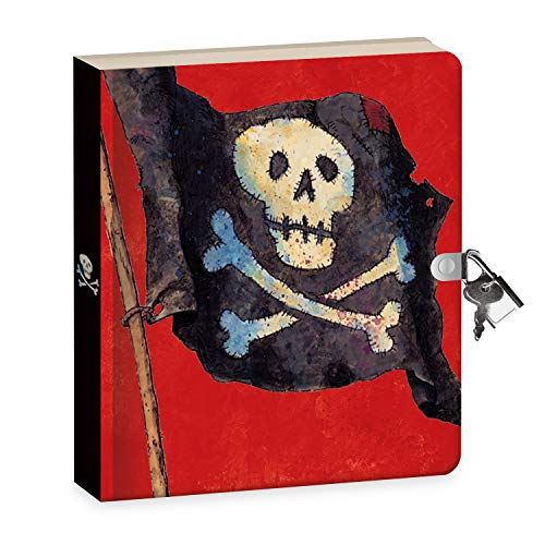 """Peaceable Kingdom Pirates 6.25"""" Lock and Key, Lined Page Diary for Kids"""