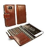Alston Craig funda / cartera en piel 'Vintage' para Samsung Galaxy Note 8 (inc protector de pantalla) - Marron