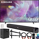 Samsung QN55Q60AA 55 Inch QLED 4K UHD Smart TV (2021) Bundle with Deco Gear Home Theater Soundbar with Subwoofer, Wall Mount Accessory Kit, 6FT 4K HDMI 2.0 Cables and More
