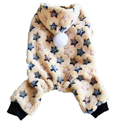 TWGDH Camisa del Perro de la Estrella Polar Pintura Escudo del Perrito de Otoño Invierno Cálido Mascotas Gato con Capucha Ropa de Abrigo de Lana con Capucha Perro de Peluche de la Moda