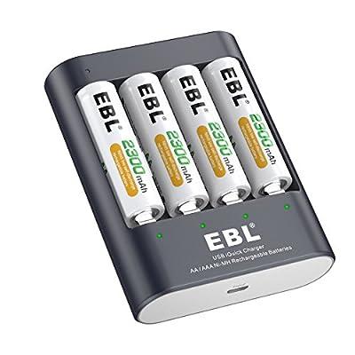 EBL U421 Charger and AA AAA Battery