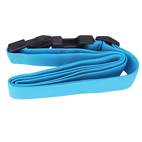 1 x verstellbarer Koffergurt, Sicherheitsgurt, blau, praktisch und beliebt, praktisches Design und langlebig.