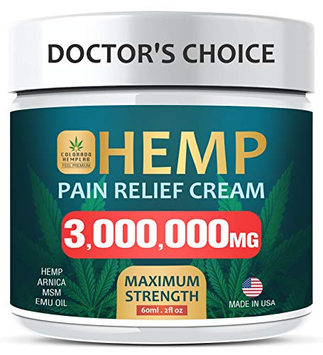 Pain Relief Cream - Maximum Strength 3,000,000 MG - Fast Relief from Pain, Ache, Arthritis & Inflammation - Made & 3rd Party Lab Tested in USA