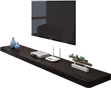 TV Cabinet, TV Lowboard, Floating Shelves, Wall Mounted Media Console, TV Set-Top Box Shelves, Wood TV Background Wall Shelf,