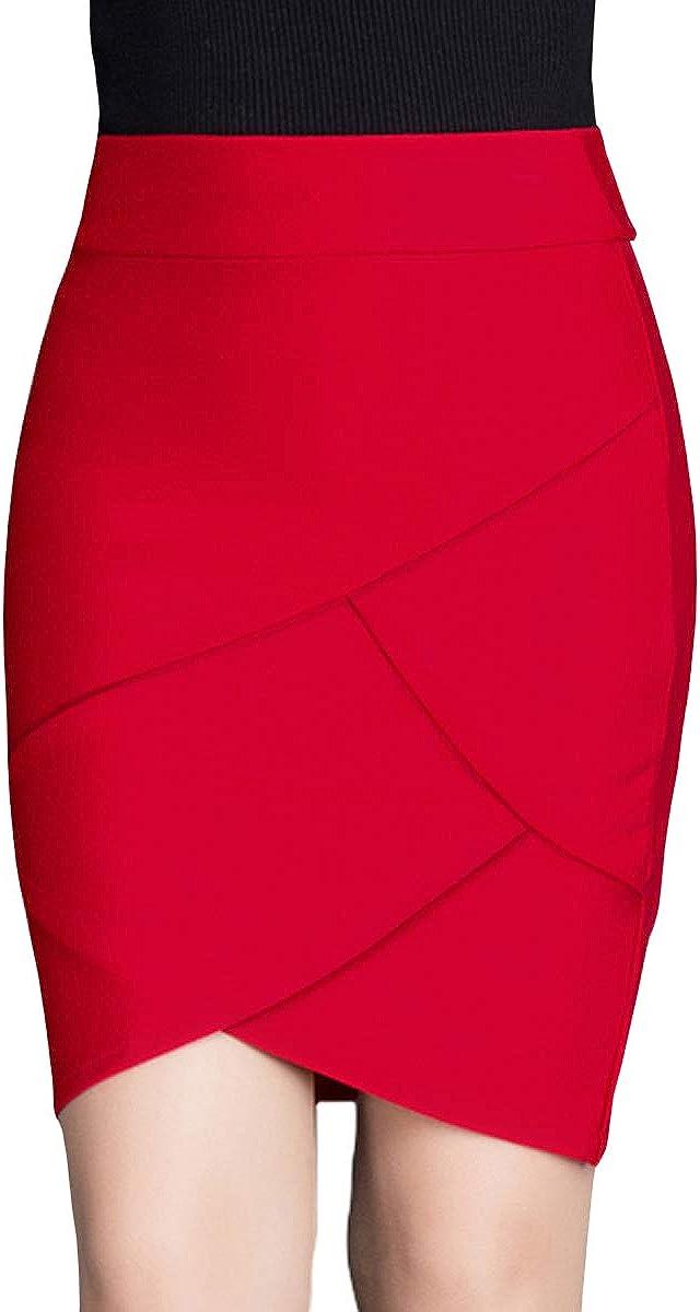 DISSA BD1112 Women Hight Waist Mini Pencil Skirt