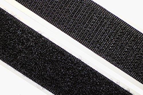 dalipo 18003 - Klettband selbstklebend - Farbe: schwarz - Breite: 30