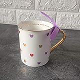 Moda Lindo Corazón Taza De Agua Taza De Cerámica con Tapa Cuchara Mango Personalidad Oficina En Casa Pareja Café Jugo Leche Tazas Set-1