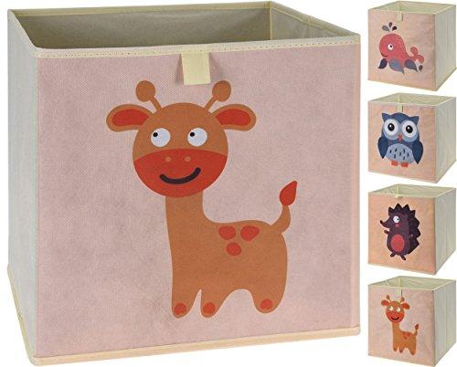 Faltbare Aufbewahrungsbox mit Tiermotiven   4er Set