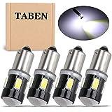 TABEN 4 Uds T4W BA9S Bombilla LED de Aluminio Lente de proyector luz de cortesía de Puerta Lateral Interior de Coche 6 SMD 5630 lámpara de estacionamiento LED Blanco 12V