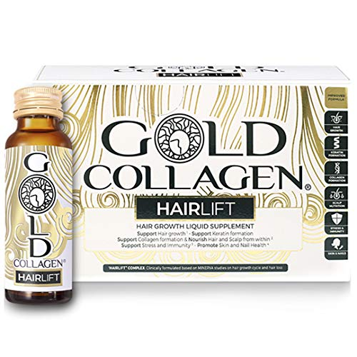 Gold Collagen Hairlift 50ml | The Original #1 Liquid Collagen Hair Supplement | Hydrolysed Keratin, Collagen, Rocket, Biotin & Vitamins for Increased Hair Strength, Growth & Repair (New Formula)