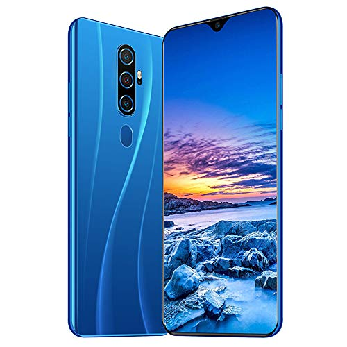 Smartphone Ohne Vertrag 4G - 6,7 Zoll HD, Octa-Core 4GB RAM/64GB ROM, 128GB Erweiterbar, 4800mAh Akku, 24MP-Kamera, Dual SIM Android 10.0 Handy A82,Blue