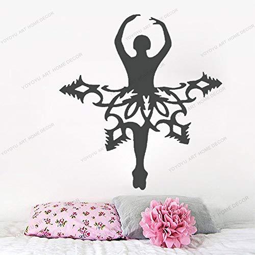 wZUN Calcomanías de Pared de Ballet diseño de Pared de Baile Arte Pegatinas de Vinilo bebé niña niños decoración de guardería 63X76 cm