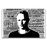 WPQL Poster Sting The Police, geeignet für Studium,