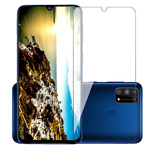 POPIO Tempered Glass for Samsung Galaxy M31 / Samsung Galaxy M21 (Transparent) Full Screen Coverage (except edges) with Easy Installation Kit, Pack of 1