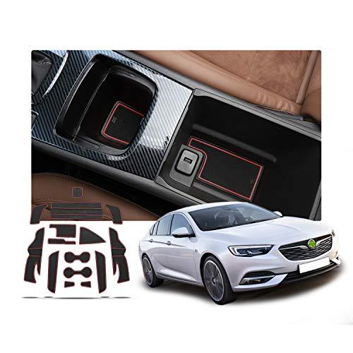RUIYA Opel Insignia Esterillas antideslizantes para el interior de la puerta del coche, protección contra el polvo, ranura de puerta, estera para el coche, decoración del automóvil con logotipo