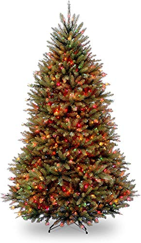 National Tree Company lit Artificial Christmas Tree Includes Pre-strung Multi-Color Lights and Stand Dunhill Fir, 7.5 ft, Green