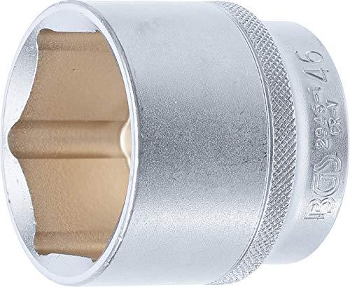 "BGS technic 2946-1 Llave de Vaso Hexagonal, Entrada 12.5 mm (1/2""), Cromado Mate, Schlüsselweite: 46 mm"
