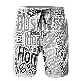 Yuerb Shorts de Playa para Hombre Shorts de Tablero Troncos de natación Transpirables la Historia del Almendro Prunus dulcis Text