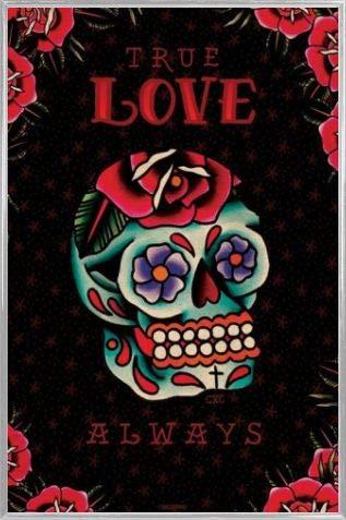 1art1 Tatuaggi Poster Stampa e Cornice (Plastica) - Cardxcore, True Love Always (91 x 61cm)