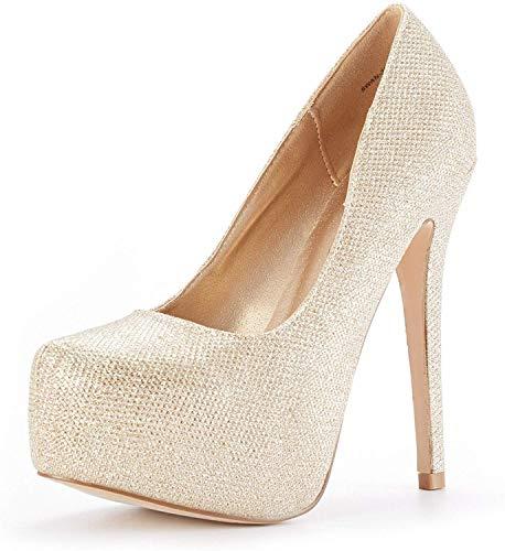 DREAM PAIRS Swan_30 Mujer Zapatos de Tacon Aguja Vestir Fiesta Boda Plataforma...
