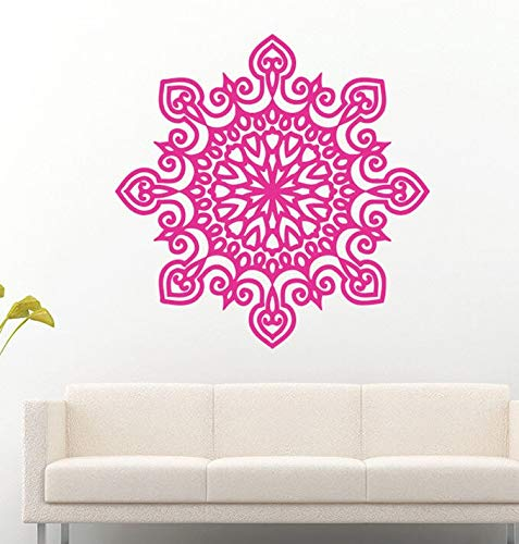 Decal Mandala Yoga Health Ornament Indian Buddha Om Symbol Logo Vinyl Wall Sticker Lotus Flower Pattern Living Room Studio Home Decor Art Murals Poster