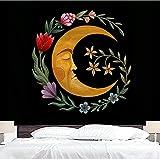 Luna sol tapiz colgante de pared decoración del hogar paisaje tapiz de pared tela bohemia viaje tapiz psicodélico A3 180x230cm
