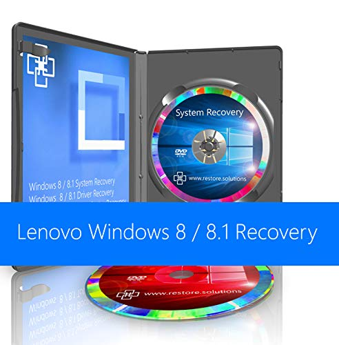 Lenovo Windows 8 / 8.1 Standard / Pro / Home System Recovery Restore Reinstall Repair Boot Disc + Driver DVD 64 Bit
