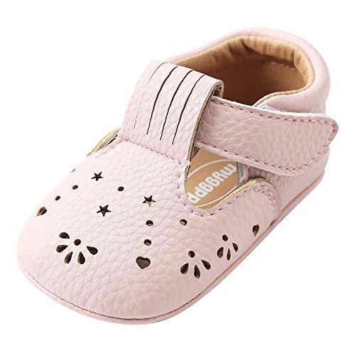 HWTOP Lauflernschuhe Baby Mädchen Prinzessin Leder Schuhe Aushöhlen Mode Kleinkind erste Wanderer Freizeit Bequeme Schuhe