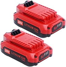 Elefly 2 Pack 20V 3.0Ah Lithium Battery Replacement for Craftsman V20 Battery CMCB201 CMCB202 CMCB204, Compatible with Craftsman V20 Series 20V Max Cordless Power Tools