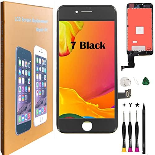 Oli & Ode iphone 7 液晶パネル iphone7 フロントパネル交換 iPhone 7 修理パーツ iphone 7 screen replacement フロントパネル 3D 液晶パネルタッチスクリーン修理交換用 A1660 A1778 A1779 (7 ブラック)