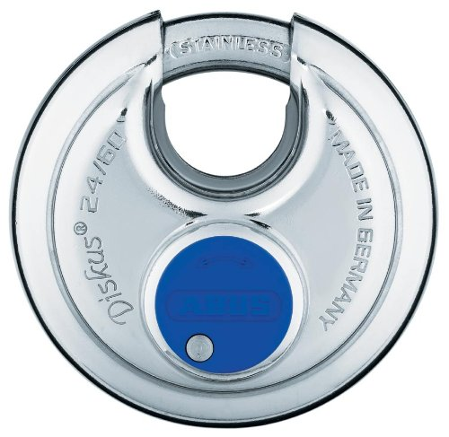ABUS 24IB/60 Discus Padlock with Stainless Steel Shackle, Keyed Different