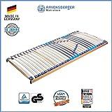 RAVENSBERGER MEDITOP 30-Leisten-Buche-Lattenrahmen | 5-Zonen-Buche-Lattenrahmen | Starr | Made IN Germany - 10 Jahre GARANTIE | TÜV/GS + Blauer Engel - Zertifiziert | 120 x 220 cm