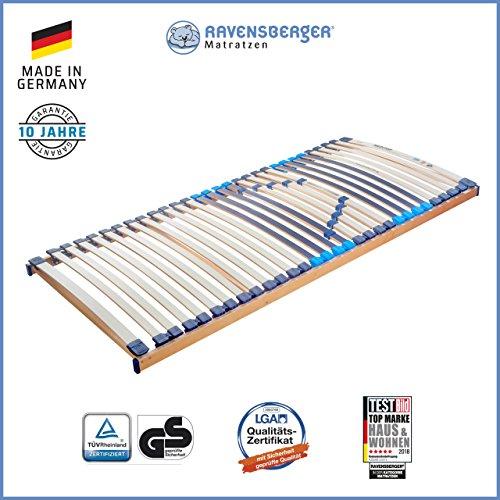 RAVENSBERGER MEDITOP 30-Leisten-Buche-Lattenrahmen   5-Zonen-Buche-Lattenrahmen   Starr   Made IN Germany - 10 Jahre GARANTIE   TÜV/GS + Blauer Engel - Zertifiziert   90 x 200 cm