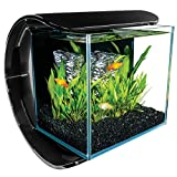 Marineland Silhouette aquarium Kit 3 Gallons, Sleek Curved Base, Includes LED Lighting