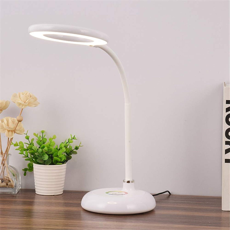 ZOYNZ LED Augenschutz Tischlampe Kreative Beleuchtung Nachtlicht Student Leseauge Tischlampe (Wei)