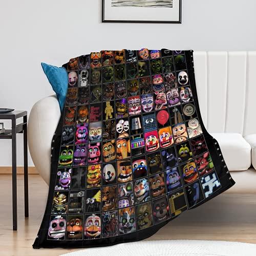 Five Nights at Freddy's Blanket Franela para Cama Alfombra cálida y Suave 100x130cm (A, 100X130CM)
