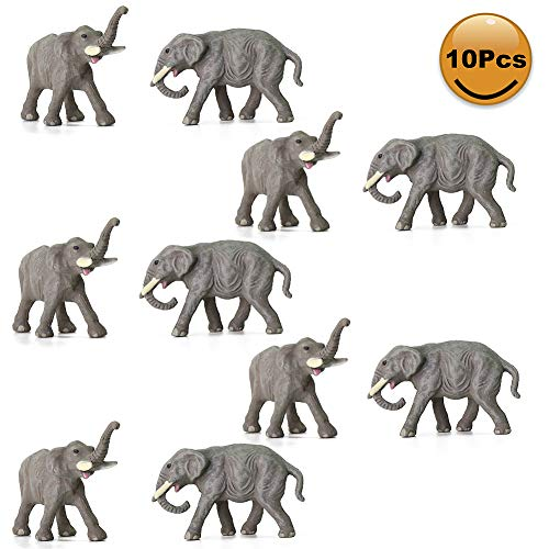 Evemodel 10Stk. 1:150 gut bemahlte Model N Spur Mini Elefant Tiere Bahnhof PVC AN15004