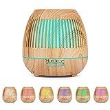 YuQSpace Diffusore di Oli Essenziali, 400ml Diffusore Ambiente con Colori 7 Luce LED Umidificatore Impostazione Timer Diffusore di Aromi Ultrasuoni per Yoga Ufficio Camera da Letto Soggiorno