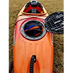 """THEKAYAKCART KC-7 Ultra Portable Kayak & Canoe Cart 13 TheKayakCart has an extremely flexible cradle adapts to various hull shapes. Comes with dual strap attachments, buckles and hook.. Wheels are removable via quick release pins. 7"""" co-polymer wheels w rubber tread will cover just about any terrain. """" Weight capacity is 165 lbs. Weight is 2.85 Lbs. Dim.13.25"""" x 10"""" x 10 With TheKayakCart getting your kayak or canoe to the water by yourself has never been easier. Just strap, roll, and launch! Durably designed and engineered for SIT IN RECREATIONAL kayaks, canoes, and rowing shells, TheKayakCart can be quickly, easily, and securely attached in minutes to any shaped bow or stern. TheKayakCart has three optional wheel types."""