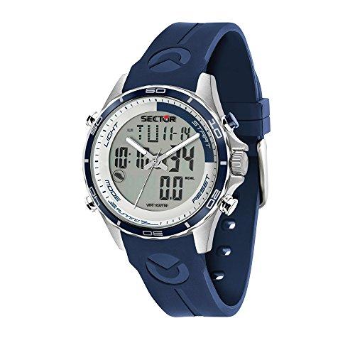SECTOR NO LIMITS Herren Analog-Digital Quarz Uhr mit Silikon Armband R3271615003