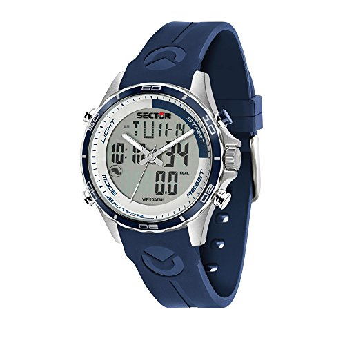 SECTOR NO LIMITS Herren Analog-Digital Quarz Uhr mit Silikon Armband R3271615003