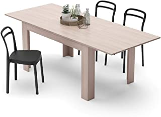 Mobili Fiver, Table Extensible Cuisine, Easy, Orme Perle, 140 x 90 x 77 cm, Mélaminé, Made in Italy