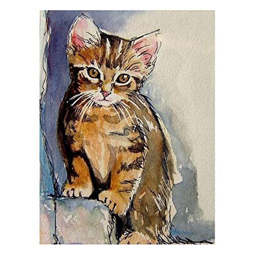 Demarkt Cat 5D DIY Diamond - Juego de Pegatinas para Pared
