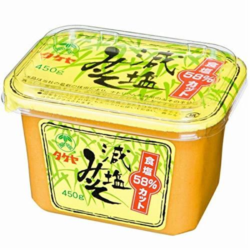 タケヤ 減塩みそ 食塩58%カット 450g カップ 1ケース(6個入)