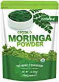 Organic Moringa Oleifera Leaf Powder Raw Green Superfood Powder 16oz (1 Pound) Gluten Free, Great for Energy Drink Smoothies, Tea, Rich Source of Antioxidants, and Multi Vitamins. by Naturise
